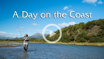 Fly Fishing on Alaskan Coast