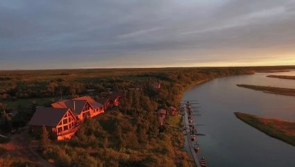 Brian Kraft talks lodge location on the Kvichak River.